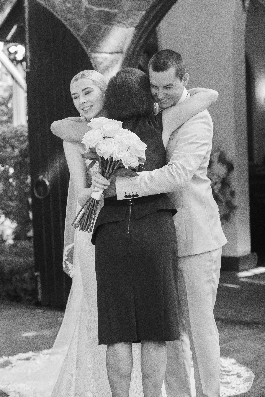 Post-wedding hugs!