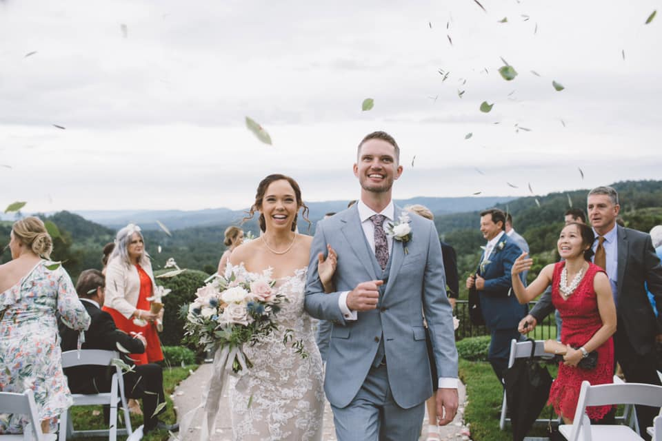 Owning that walk down the aisle; The Old Dairy Maleny Wedding; rainy day wedding