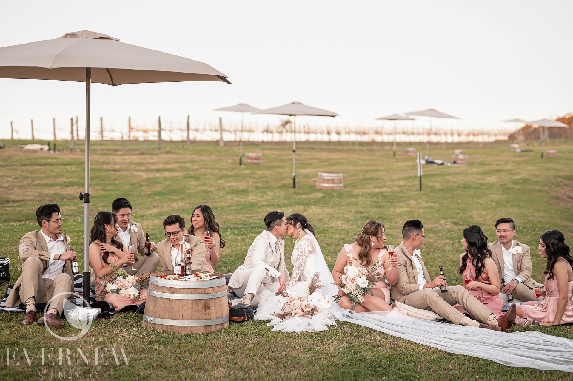 This is how you chillax with your wedding crew, Sirromet-style