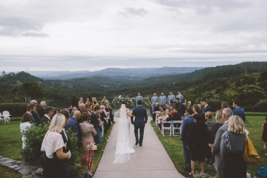 Moody skies enhanced the atmosphere; The Old Dairy Maleny Wedding; rainy day wedding