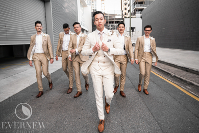 Wedding day strut ... like a boss!