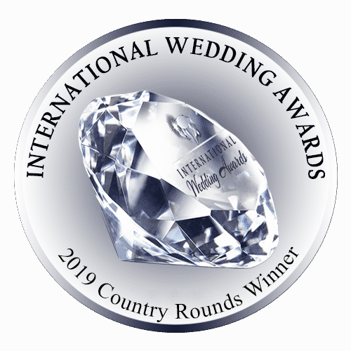 Crystal trophy for 2019 international wedding award country rounds winner