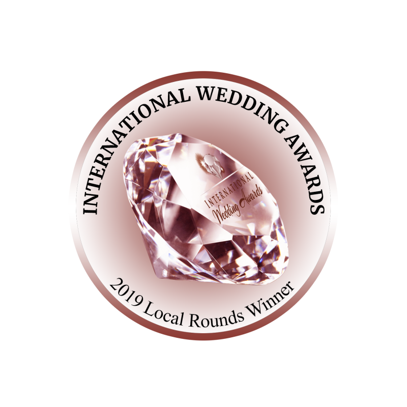 International Wedding Awards logo local rounds winner
