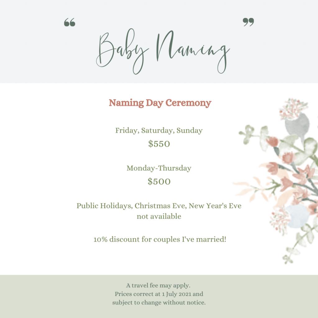 Celebrant's Baby Naming Ceremony Package